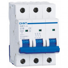 Автоматический выключатель NB1-63 3P B16 6kA DB (179686)