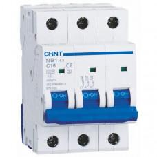 Автоматический выключатель NB1-63 3P B3 6kA DB (179690)